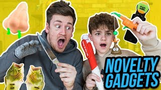BROTHERS TRY WEIRD GADGETS & NOVELTY PRODUCTS