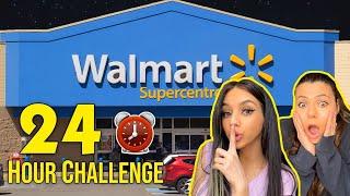 24 HOURS OVERNIGHT IN WALMART! (we got caught)