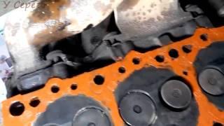 Снятие, замер плоскости, замена прокладки ГБЦ мотор LD 20, своими руками.