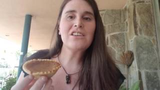 Danielle tries a bean pie