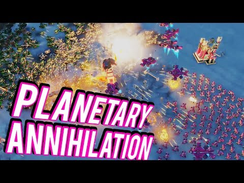 Robotic Armies and Nukes - Planetary Annihilation Titans 10 Player FFA