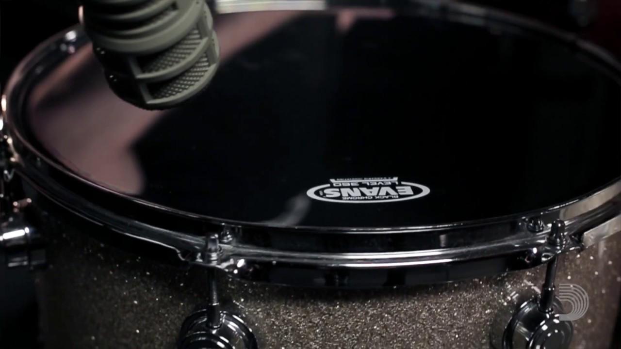 evans drumheads black chrome tom heads youtube. Black Bedroom Furniture Sets. Home Design Ideas