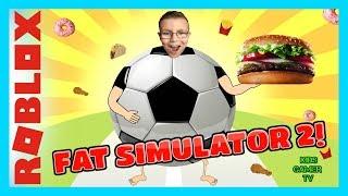 GETTING MEGA FAT ON ROBLOX SUPER FAT SIMULATOR 2!! YUM! YUM! YUM!