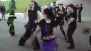 GOTH-PUNK KIDS DANCING TO ZYDECO MUSIC (by Spaine)