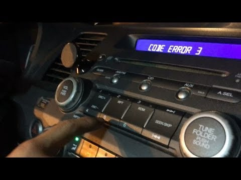 How To Get Honda Radio Unlock Code Serial Number Reset Error Msg