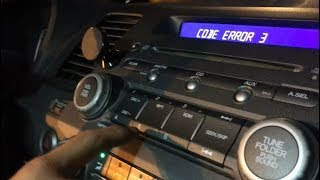 How To Get Honda Radio Unlock Code, Serial Number , Reset Error Msg & Time Clock | Civic CRV Accord