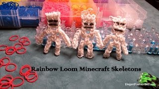 How to make Minecraft Skeleton action Figure on Rainbow Loom
