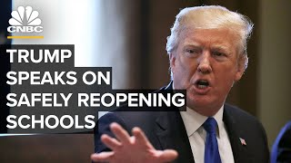 President Trump participates in an event on safely reopening schools — 8/12/2020