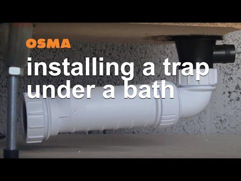 Fitting a bath waste where depth is limited- OSMA HepvO Soil & Waste