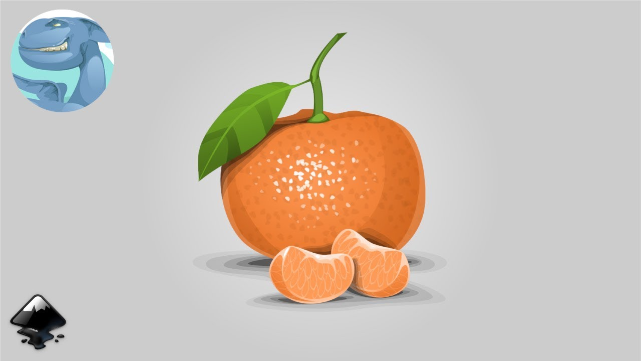 How To Draw A Tangerine In Inkscape