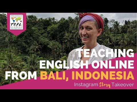Teaching English Online from Bali, Indonesia with Melissa Ann Maida - TEFL Day in the Life