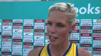 Erika Kinsey (SWE) after a new PB of 1m97