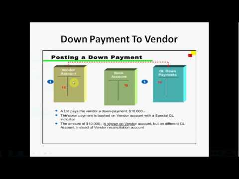 Down Payment to vendor Through APP