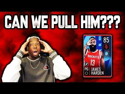 MASSIVE NBA LIVE MOBILE 19 TRENDING PACK OPENING!!! SEARCHING FOR 85 OVR JAMES HARDEN!!!