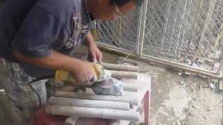 Video Đánh Bóng Đá Tại Xưởng Đá Phong Thủy Hội Ngộ