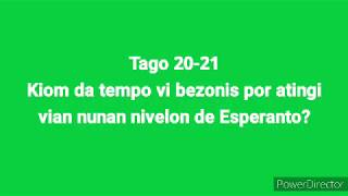 Tagoj 20 & 21- Kiel vi atingis vian nunan nivelon de Esperanto? #30DRYC