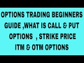 OPTIONS TRADING BEGINNERS GUIDE , WHAT IS CALL & PUT OPTIONS, STRIKE PRICE, ITM & OTM OPTIONS