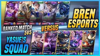 BREN ESPORTS VS YASUE'S SQUAD! 5vs5 RANKED GAME KARRIE GAMEPLAY BY YASUE!