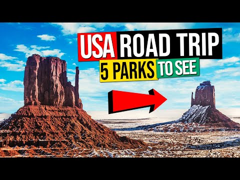 US ROAD TRIP – 5 PARKS to see in WEST USA (in Winter)