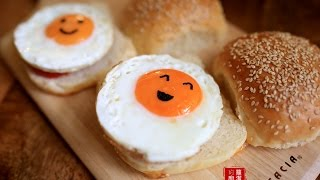 【蘿潔塔的廚房】家庭手作漢堡。想要自己做漢堡,卻買不到漢堡麵包嗎?趕快自己動手做吧!!