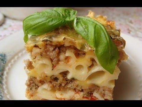Запеканка из макарон с ветчиной и сыром, рецепт с фото