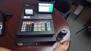 The sam4s sps-530r cash register is a powerful retail pos system. fast and durable says it all about this register. you will be able to accuratly scan items ...