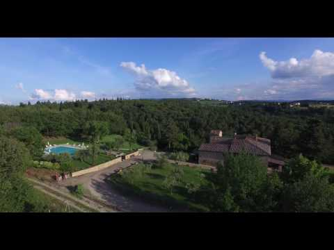 Palazzuolo Farmhouse (Chianti, Tuscany) - FULL HD 4K aerial shot with drone