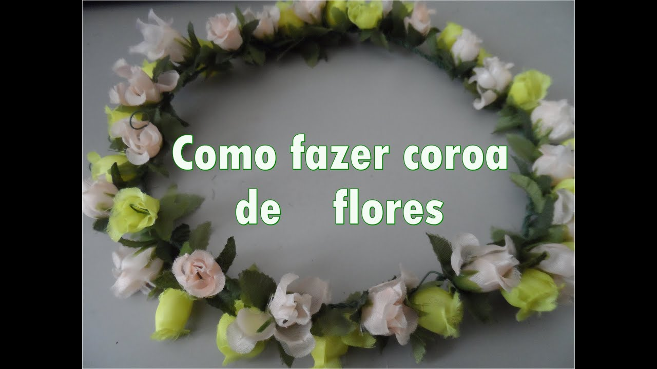 Fabuloso DIY: Como fazer coroa de flores (passo a passo) - YouTube AQ08