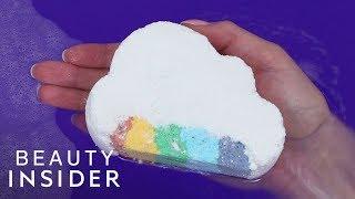 How Rainbow Bath Bombs Are Made