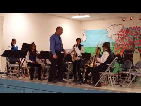 Playing at Pence Elementary school-- 5.11.18