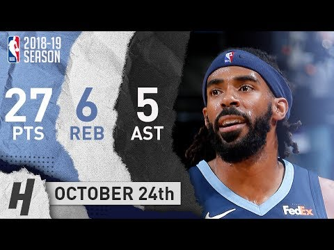 Mike Conley Full Highlights Grizzlies vs Kings 2018.10.24 - 27 Pts, 5 Ast, 6 Reb!