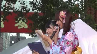 野呂陽菜&八角瑛子 2012.8.5 大須夏まつり 大須観音特設ステージにて 2...