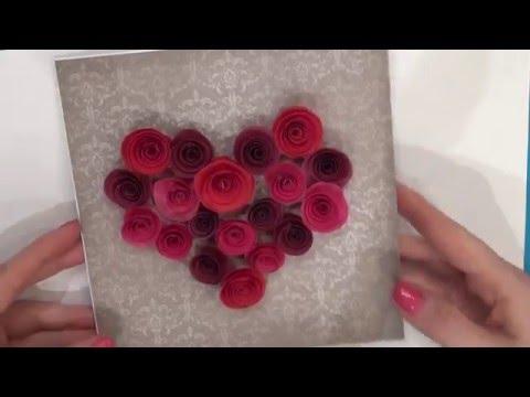 2 открытки ко Дню Валентина  Техника Квиллинг! основы - Простые вкусные домашние видео рецепты блюд