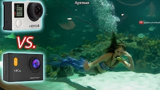 Apeman 4k Action Camera VS. GoPro