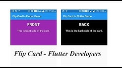Flip Card in Flutter || Amazevalley