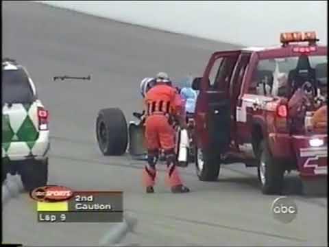 2001 Indy 500 - Sarah Fisher, Scott Goodyear Huge Crash (Live + Replays)