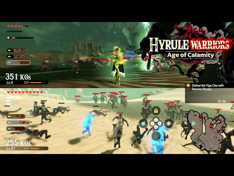Hyrule Warriors Age Of Calamity Split Screen Gameplay Urbosa The Gerudo Chief Youtube