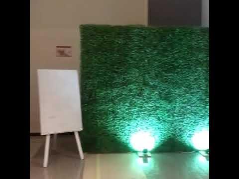 Grass backdrop event wedding
