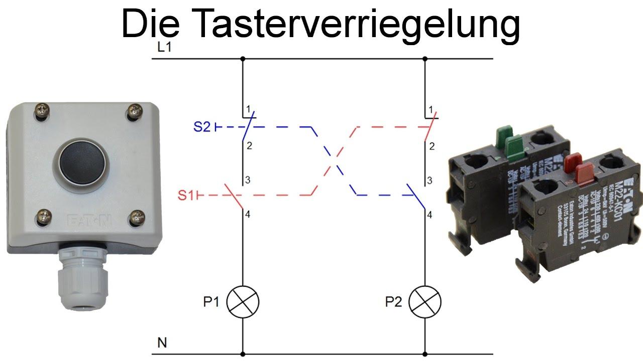 Tasterverriegelung - Verriegelung von Tastern (Schützschaltung ...