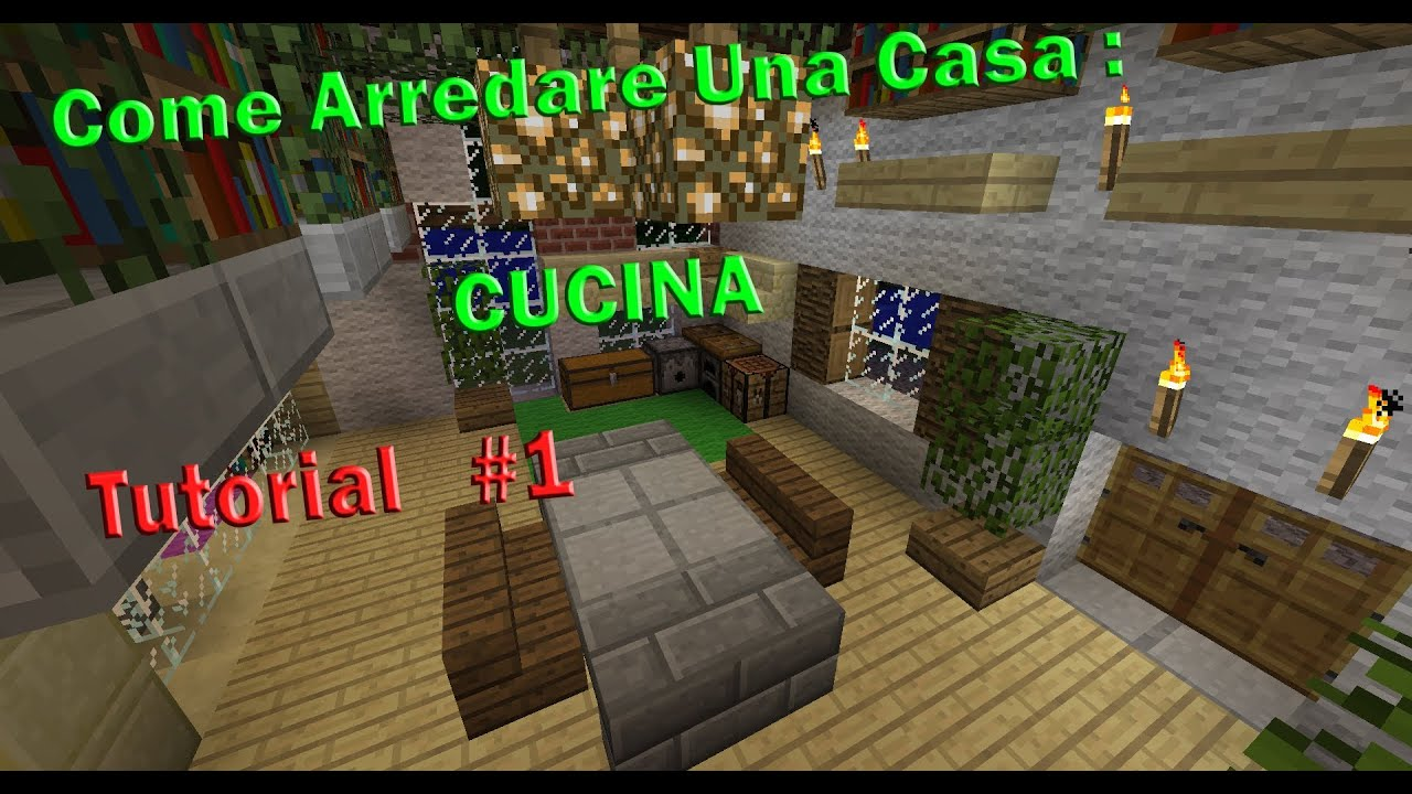 Minecraft tutorial v2 come arredare una casa cucina for Come livellare una casa