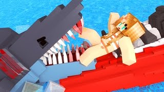 Repeat youtube video Jaws Movie - The First Shark Attack! (Minecraft Roleplay) #1