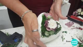 How to make a beautiful heart-shaped decoration - homemade inventions