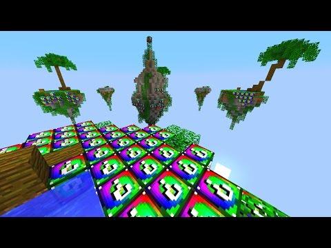 Minecraft SPIRAL LUCKY BLOCK SKY WARS