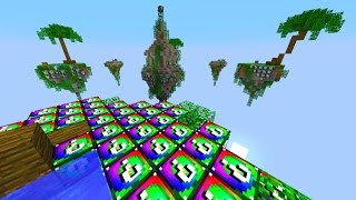 Minecraft SPIRAL LUCKY BLOCK SKY WARS