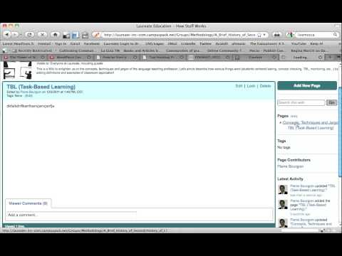How to link pages in Campus Pack Wiki.mov