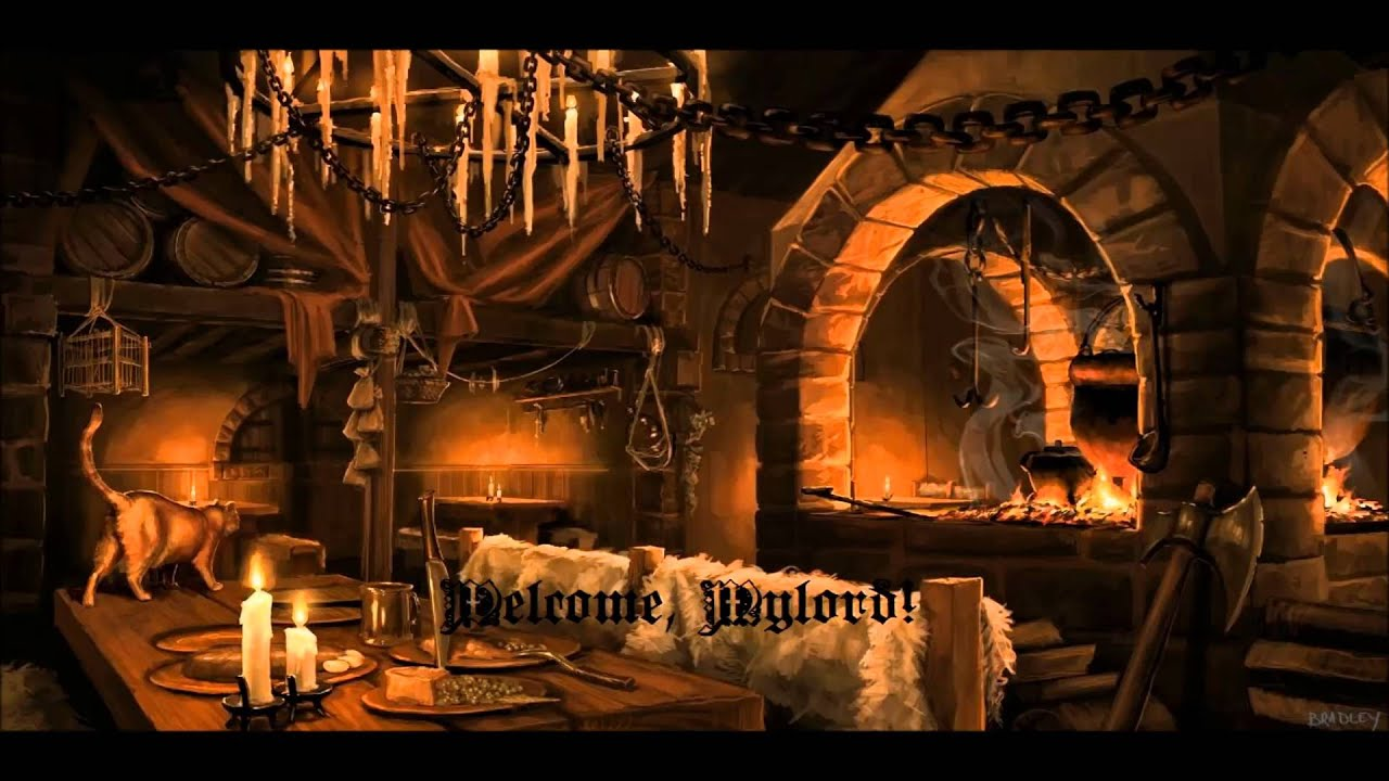 Medieval Tavern Music with Fireplace - YouTube