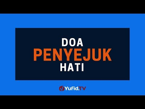 Doa Penyejuk Hati Poster Dakwah Yufid Tv