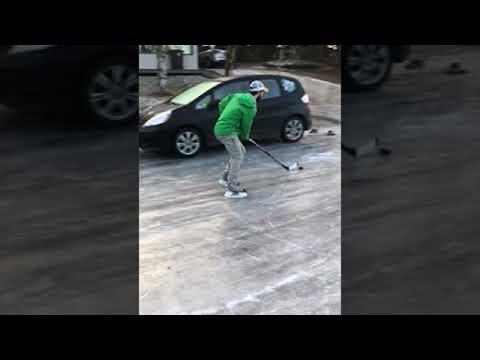 Fisher - Playing Hockey On Alaskan Street