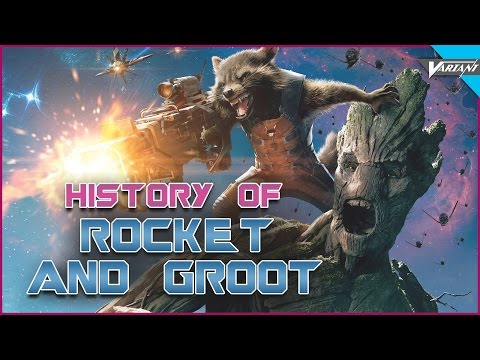 History Of Groot & Rocket Racoon!