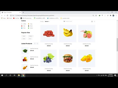 HTML-CSS Food Shopping Cart EP02# Header Menu